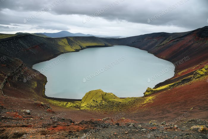 Ljotipollur volcanic crater lake