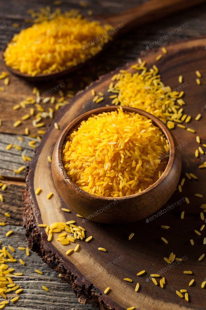 Raw Organic Yellow Saffron Rice
