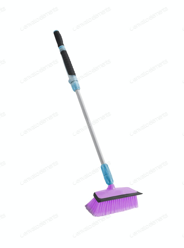Broom isolated on white background