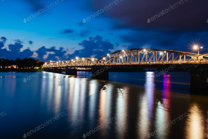 Truong Tien Bridge Hue in Vietnam