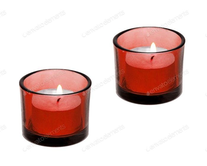 Kerze isoliert auf weißem Hintergrund