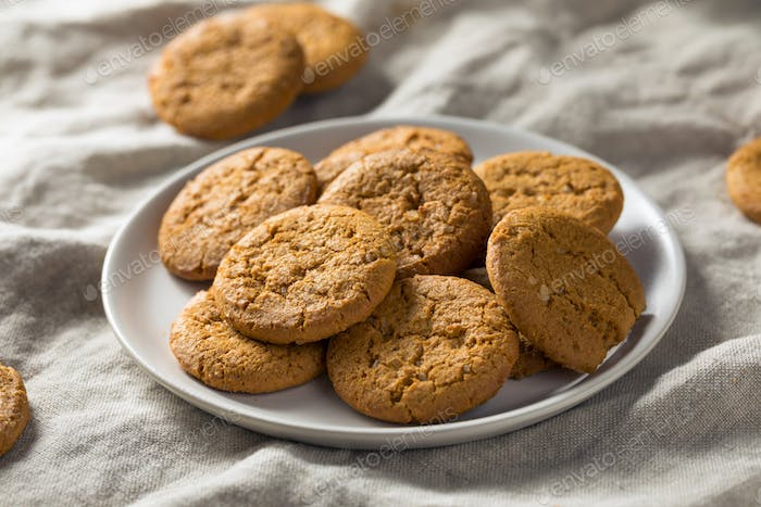 Homemade Ginger Snap Cookies