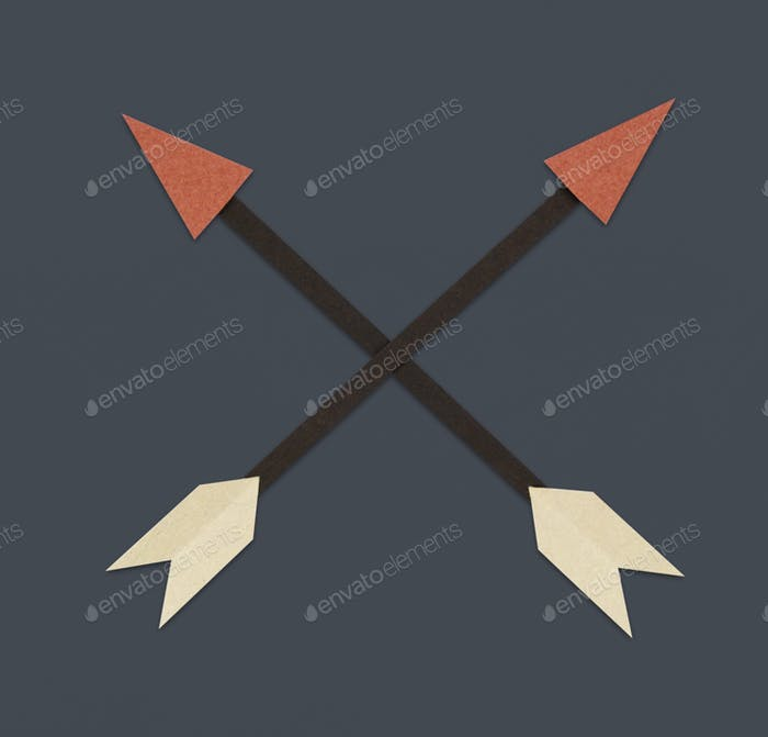 Bow archery icon symbol illustration