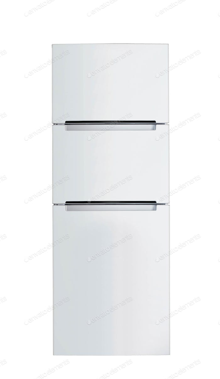 Steel fridge isolated