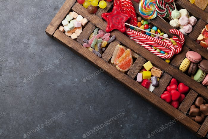 Colorful sweets box