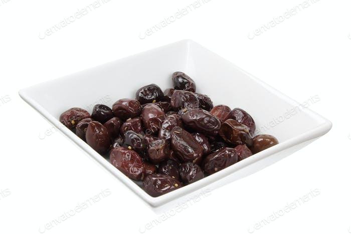 Olives on Bowl