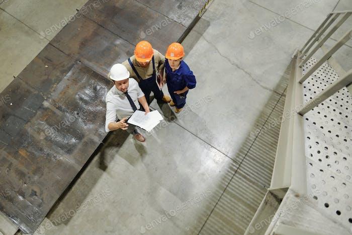 Erläuterung der Skizze für Arbeiter