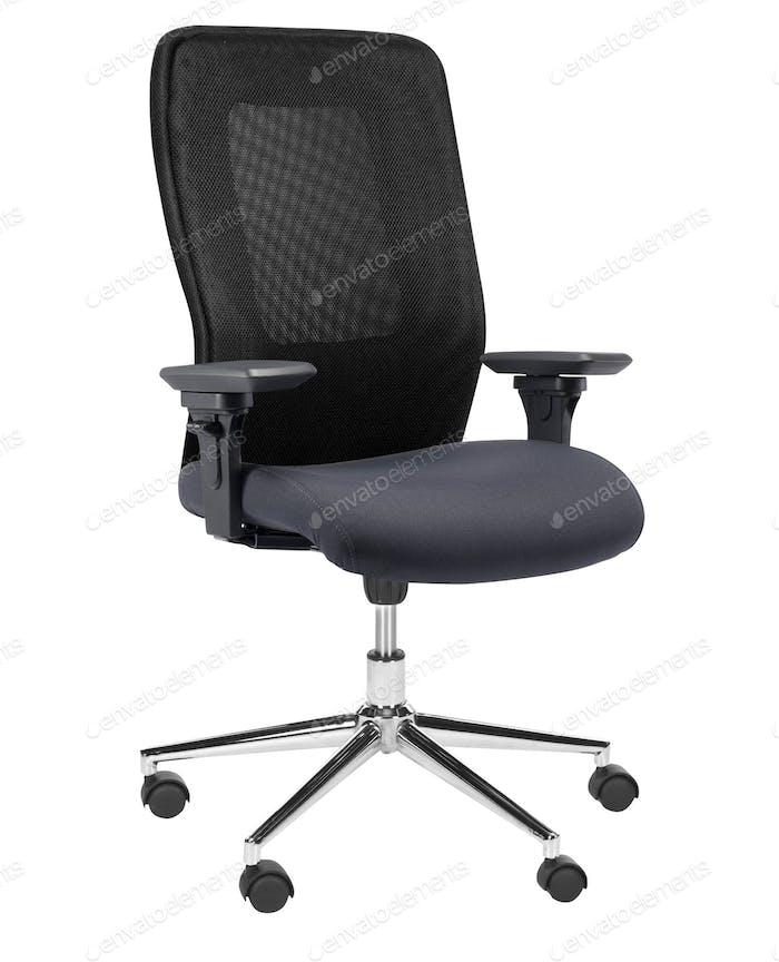 Der Bürostuhl isoliert auf weiß