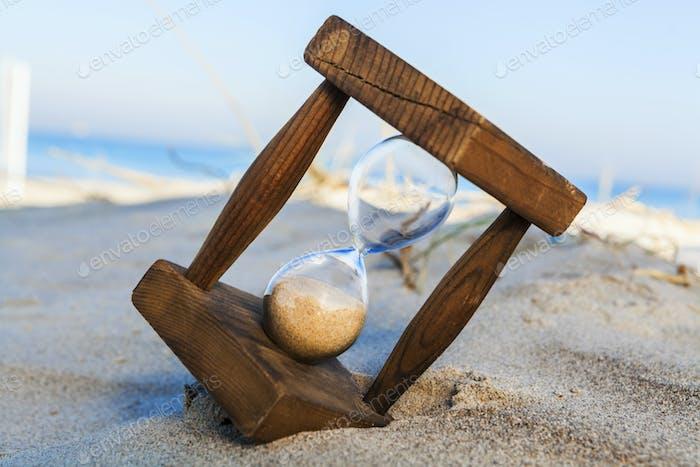 Hourglass on the Beach