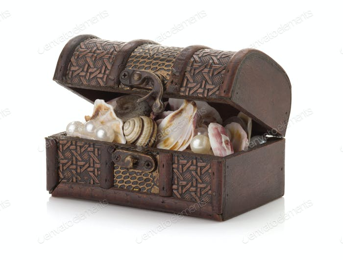 treasure box on white