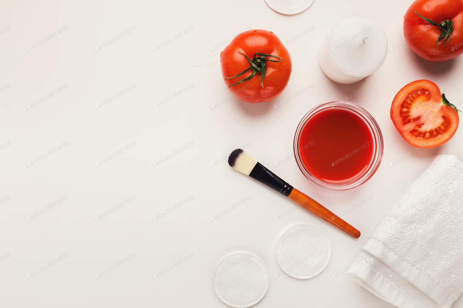Handmade tomato face mask for home skin care photo by Prostock ...