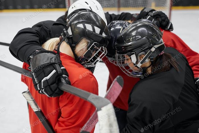 Hockey Team Huddling