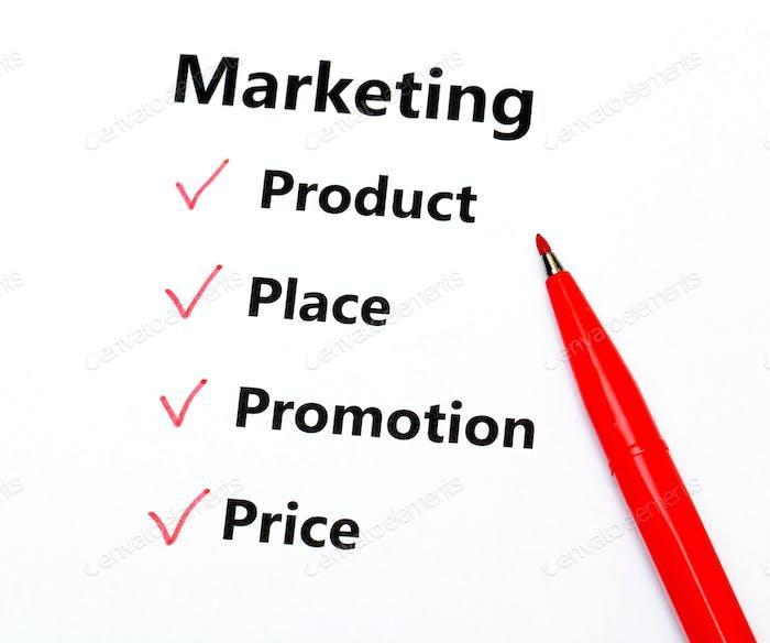 Marketing-Konzept