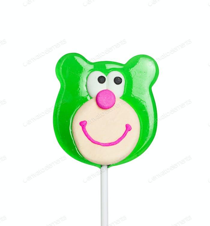 Sweet lollipop of a bear head