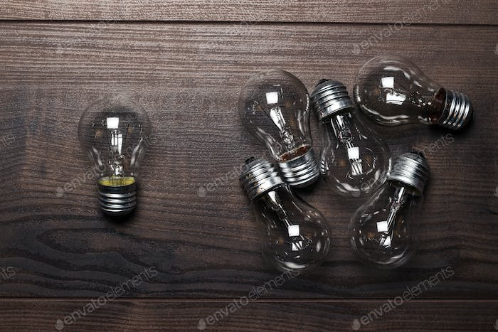 Bulbs Out Of The Crowd Concept
