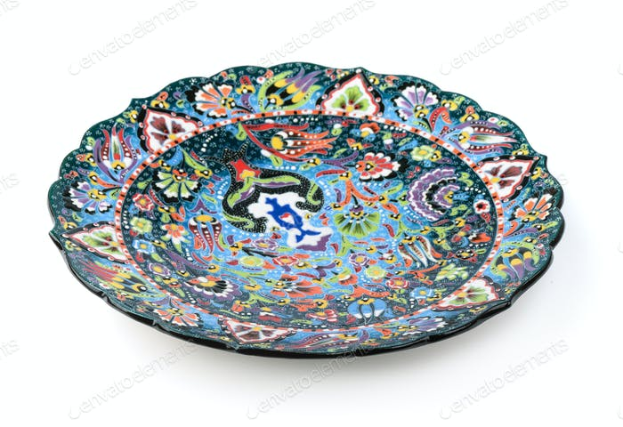 Oriental traditional decorative plate