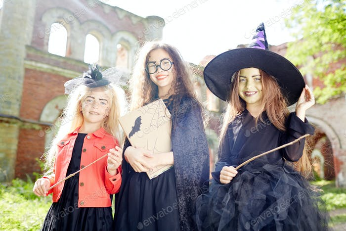 Three cute witches