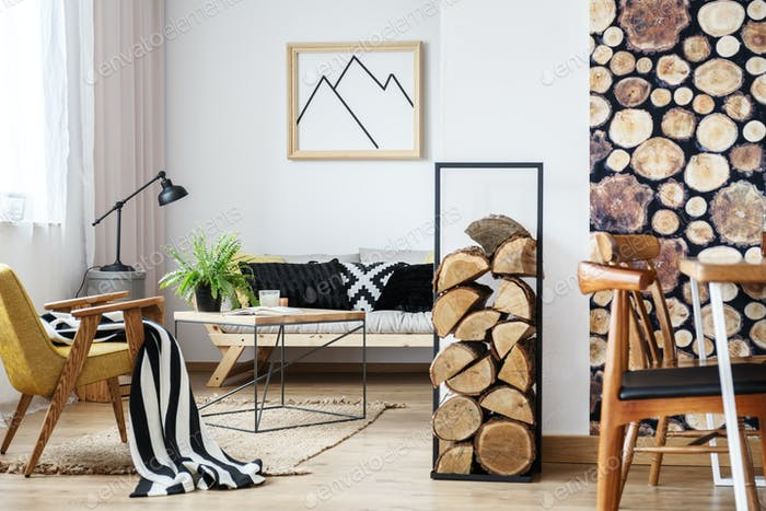 Cozy winter interior design
