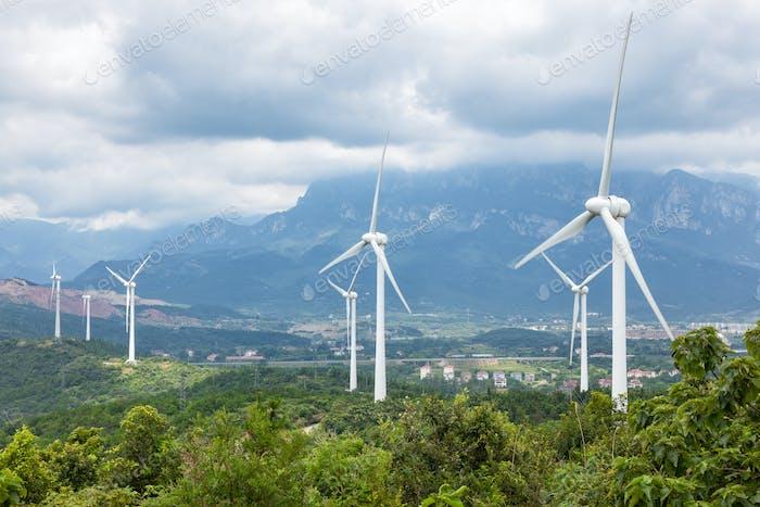 wind turbines in lushan