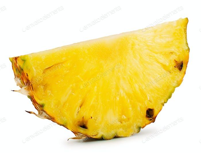 Slice of ripe juicy sweet pineapple