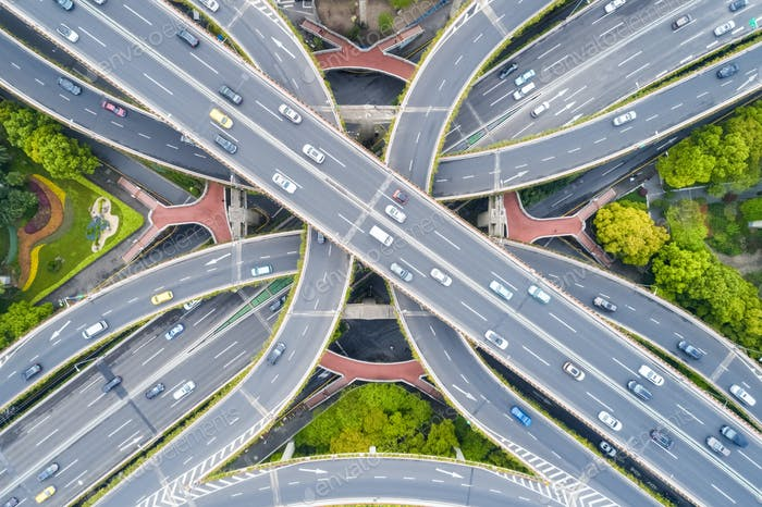 city interchange closeup