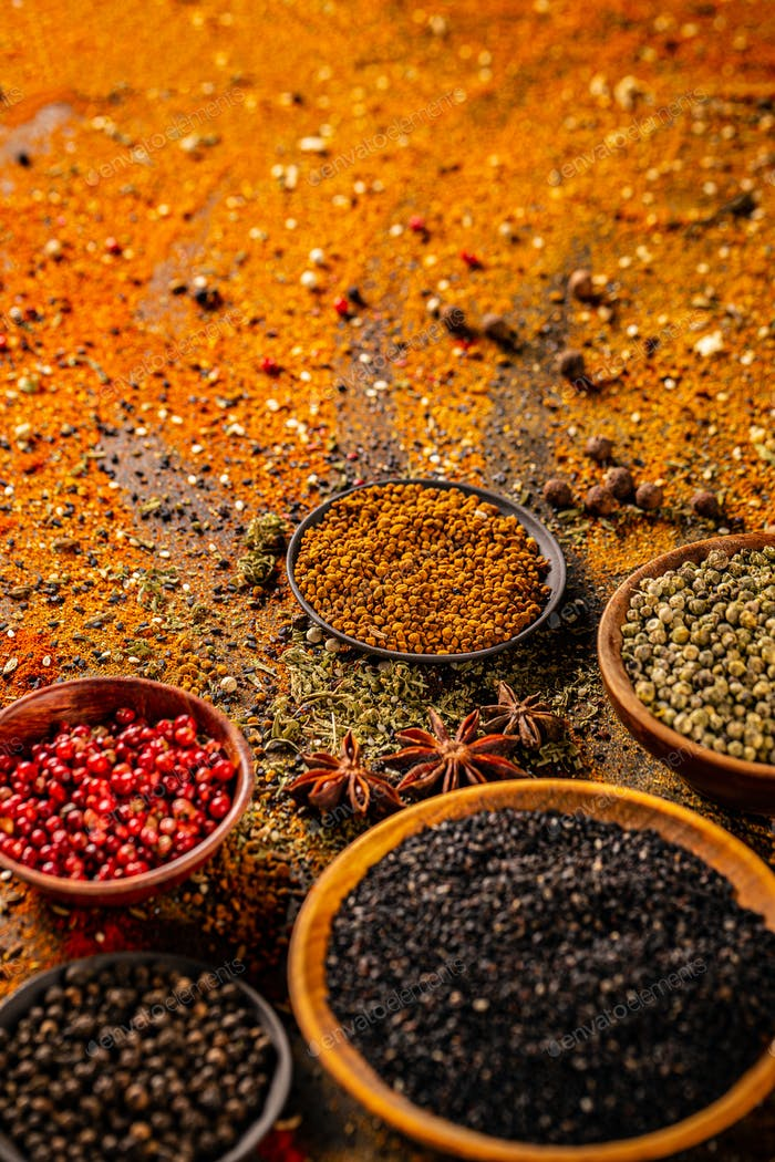 Aromatic and colorful spices