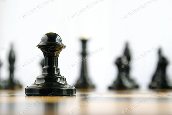 chess pieces on the board during the game