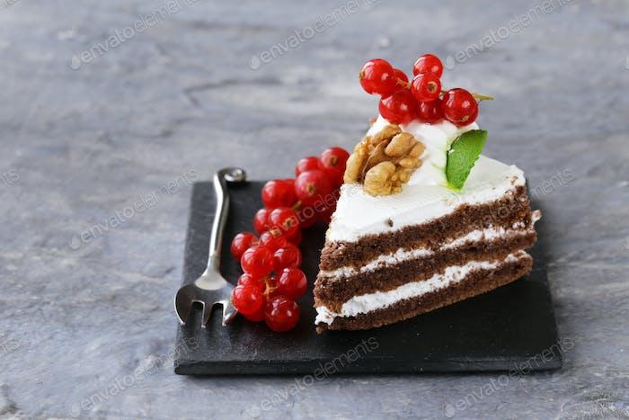 Portioned Dessert Piece Of Cake