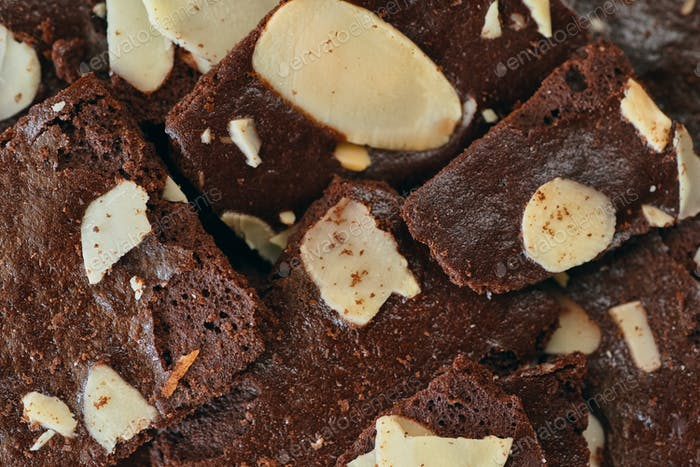 Background of crispy brownies cracker