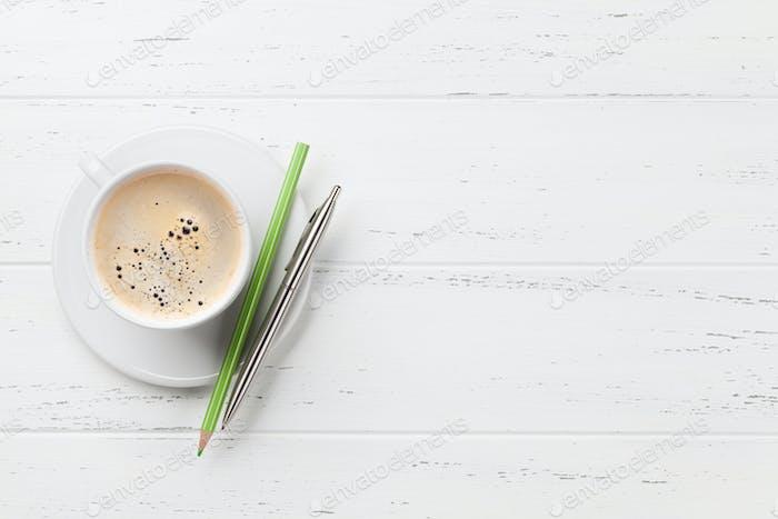 Kaffeetasse und Zubehör