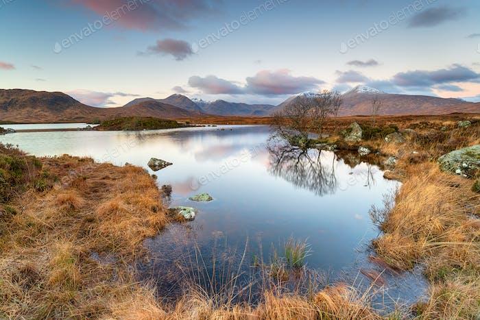 Lochan na h Achlaise in Scotland