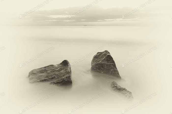 Wunderschöne monochrome Meereslandschaft.