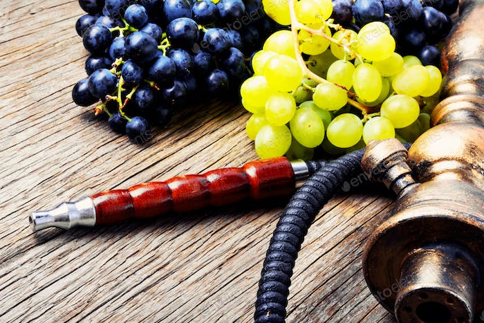 Oriental shisha with grapes