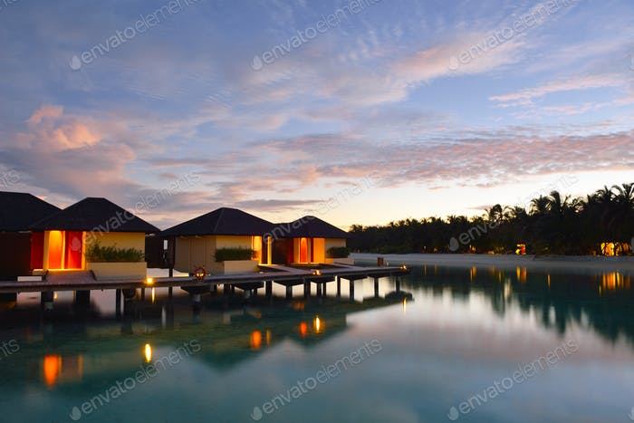 tropical water home villas