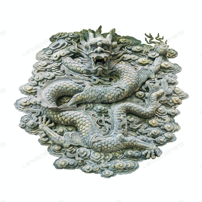traditional dragon wall isolated
