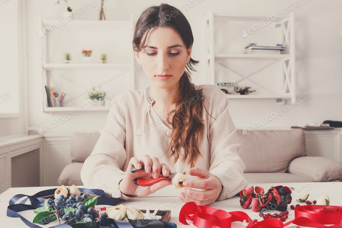Handmade headbands making, home workshop