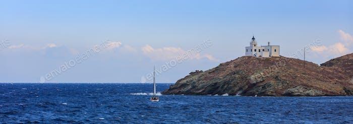 Lighthouse in Kea island