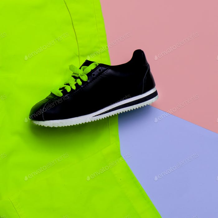 Minimal design. fashion colors. Fashion sneakers. Urban trend
