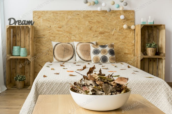 Bedroom for a nature lover