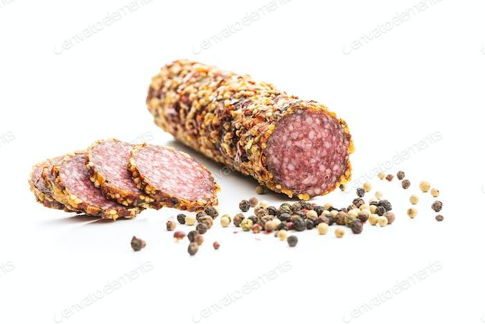 Würzige Salami-Wurst.