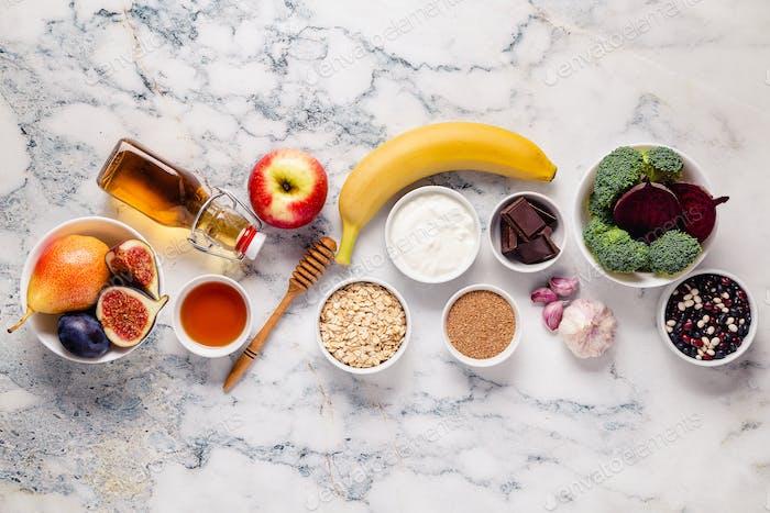 Produkte für gesunden Darm. Natürliche Nahrung für den Darm.
