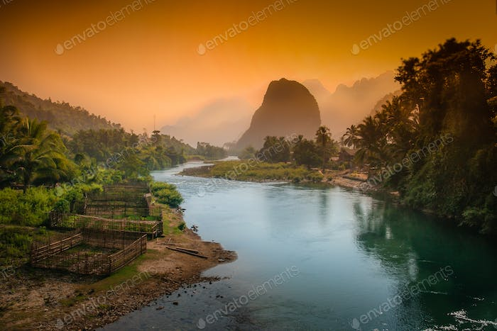 Lao karst mountains