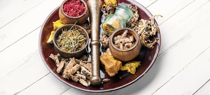 Selection healing herbs