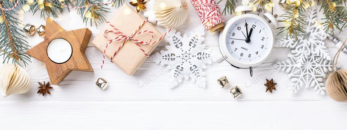 White Christmas Banner.