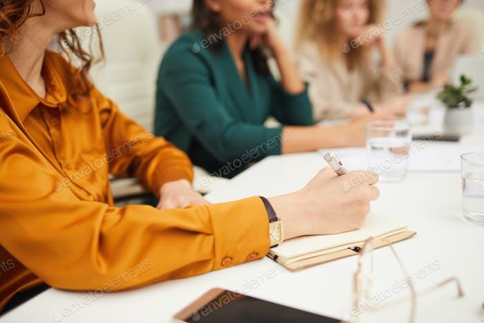 Unrecognizable Businesswomen Coworking