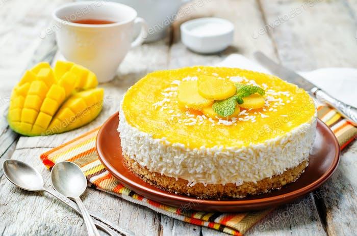 creamy mango mousse cake