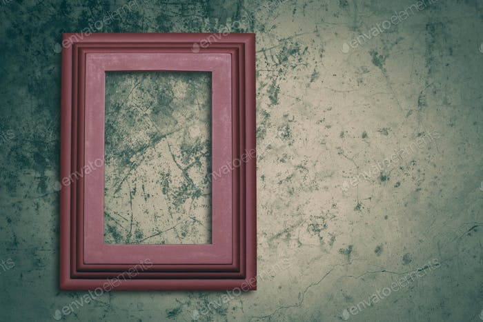 photo frame on concrete