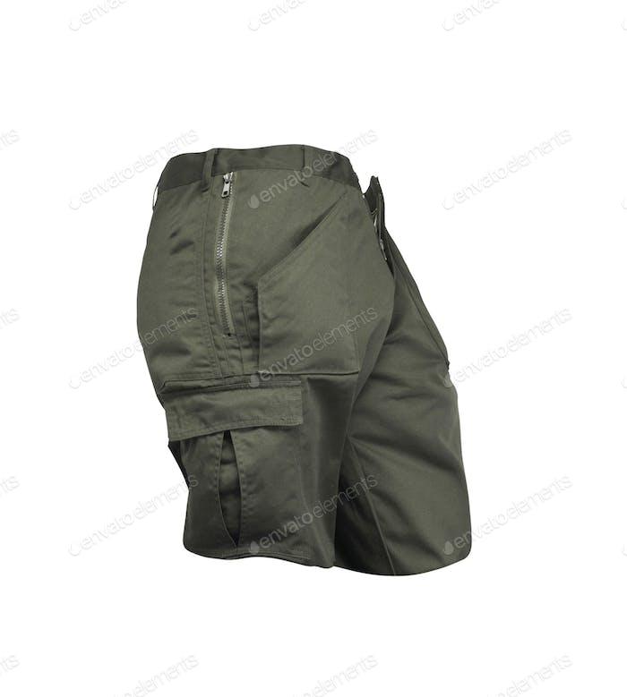 Men's shorts isolated