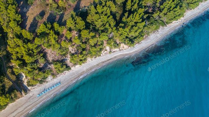 Kriopigi beach. Kassandra of Halkidiki peninsula, Greece