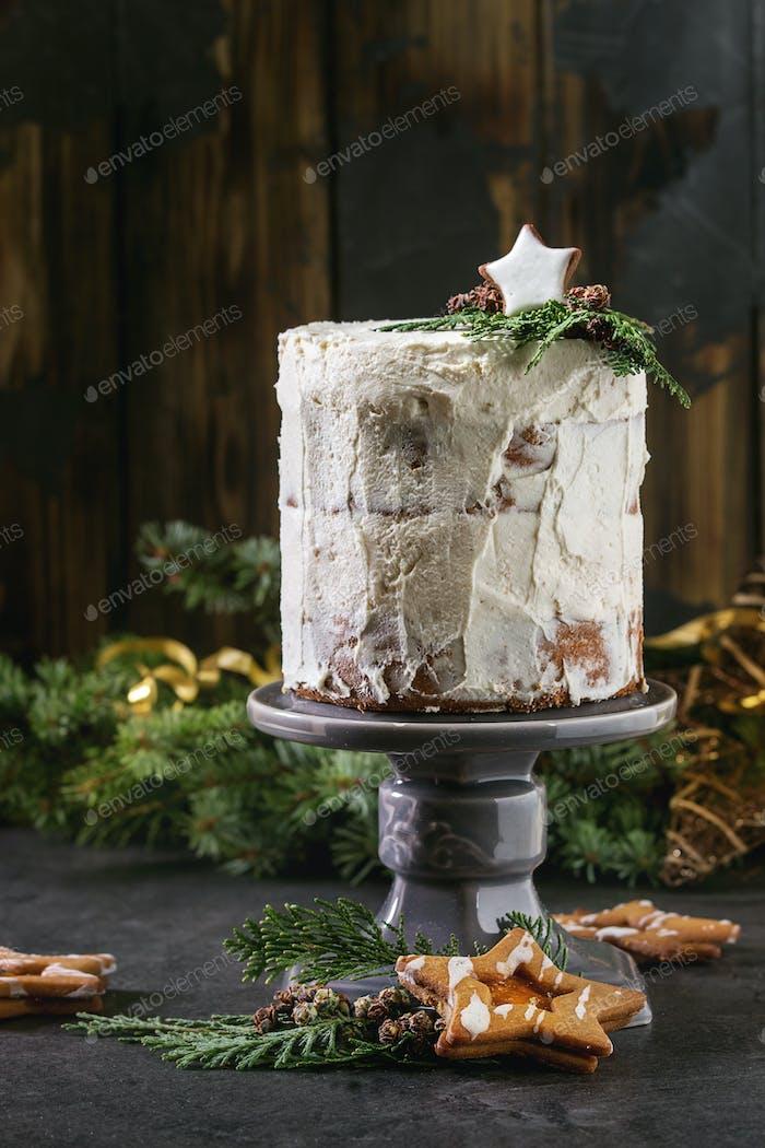Christmas naked cake